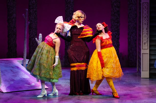 "From left, Angeleaza Anderson as Temperance, Evan Casey as Stepmother and Amanda Leigh Corbett as Grace in ""Cinderella."""