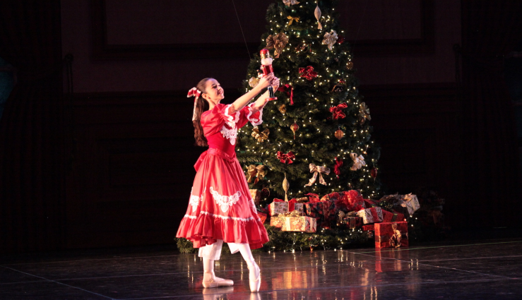 "Clara and her Nutcracker perform in Metropolitan Ballet Theatre's rendition of ""The Nutcracker."""