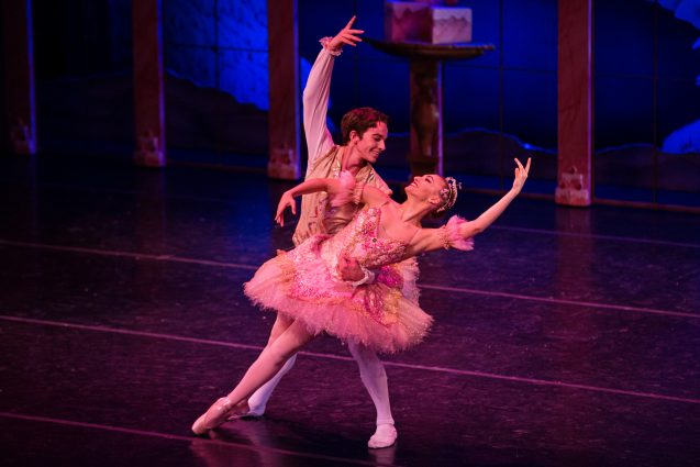 "The Sugar Plum Fairy and Cavalier from the 2017 performance of Maryland Youth Ballet's ""The Nutcracker."""