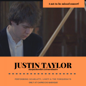 HARPSICHORD CONCERT: Justin Taylor Performs Scarla...