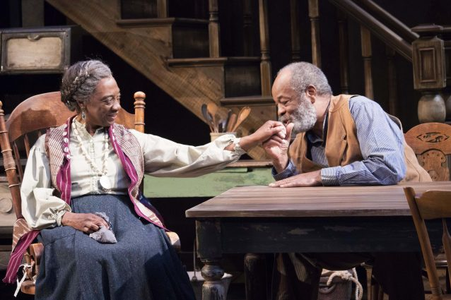 Stephanie Berry (Aunt Ester) and Alfred Wilson (Solly Two Kings).