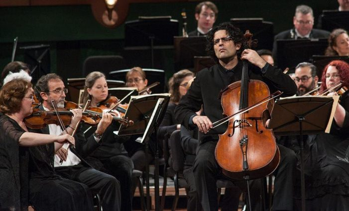 Grammy-winning cellist Amit Peled will perform with his Mount Vernon Virtuosi at the Bender JCC on Sunday afternoon.