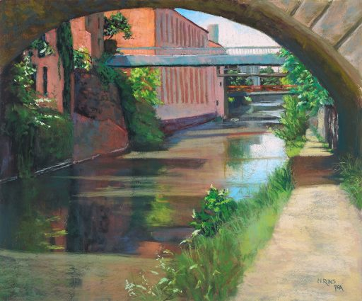 """Jean Hirons' pastel """"Georgetown Canal,"""" Artists & Makers Studios"""