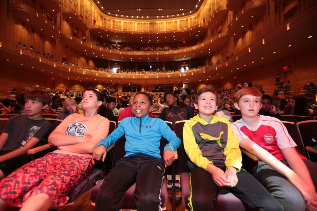 Inspiring tomorrow's audiences: Fifth-graders at the Strathmore Children's Concerts, which ensure that every second- and fifth-grader in Montgomery County has the opportunity to experience classical music at Strathmore.