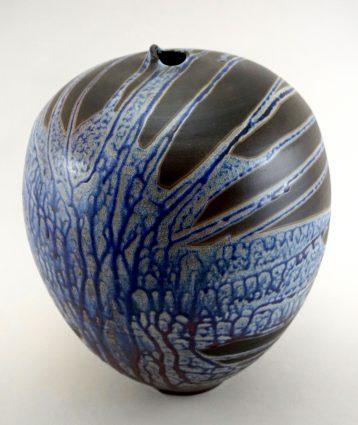 Tn Nguyen's Raku vase, Waverly Gallery.