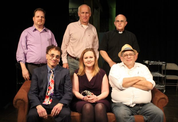 "The Cast of ""Catch Me If You Can"", J. Christopher Penick, David Robinson,  Mark Shullenbarger (back row, from left) Stan Rosen, Kelly Wilburn and Marc Rehr (front, from left) not pictured, Anne Vandercook"