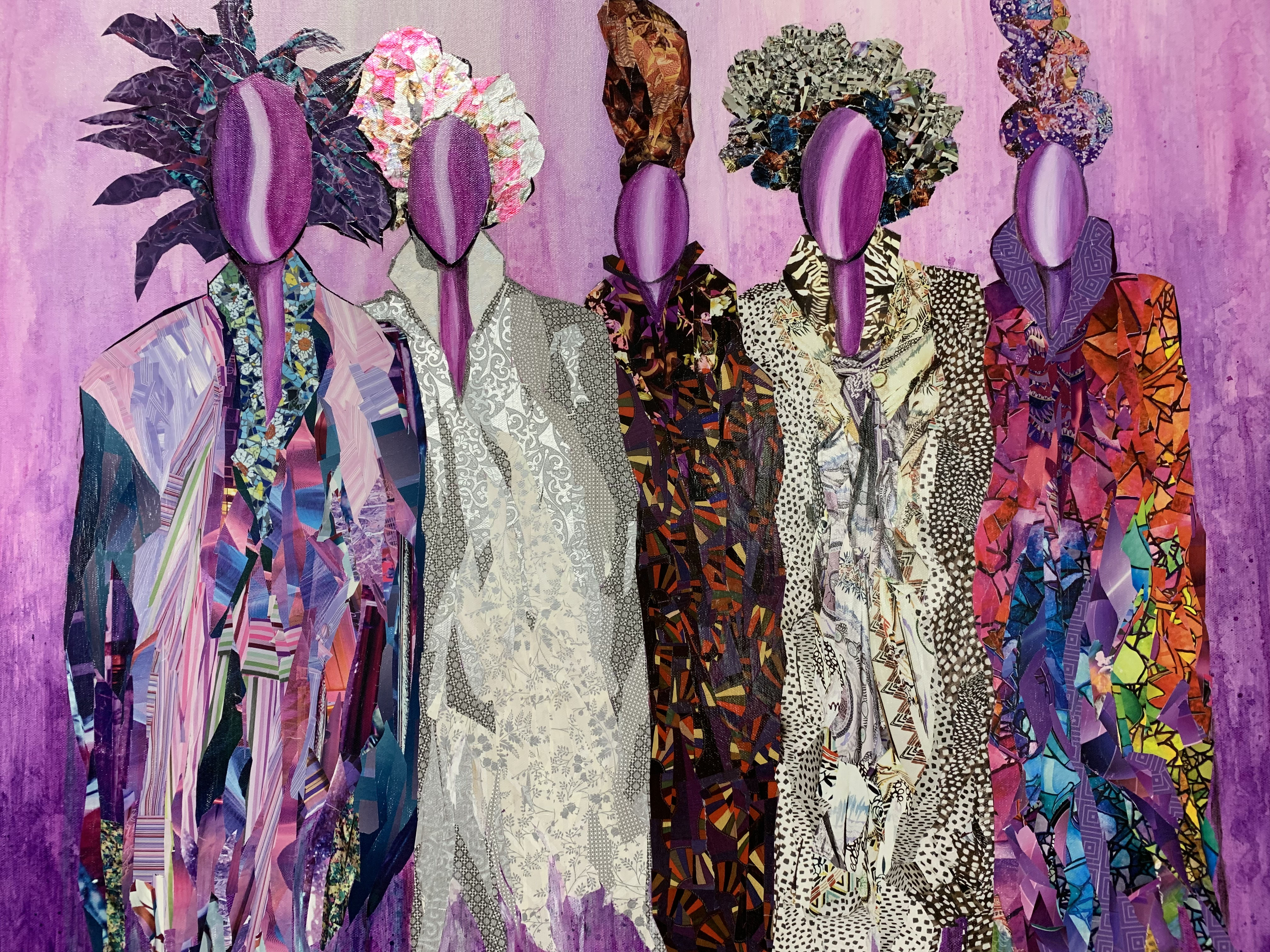 "Sandra Davis' ""Purple Ladies"" is part of her solo exhibit, ""Strength, Beauty and Sisterhood,"" on view at the Activity Center at Bohrer Park in Gaithersburg."