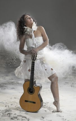 """Badi Assad uses """"a little bit of the flamenco technique, but with Brazilian grooves and chords."""""""