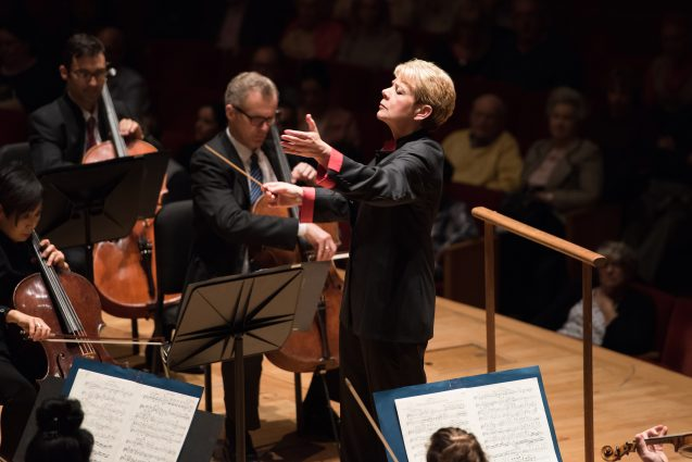 Maestro Marin Alsop has the BSO's Music Director since 2007; her tenure has been extended twice, confirmed until 2021.