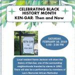 Celebrating Black History Month - Ken-Gar: Then and Now