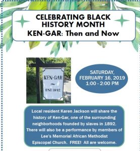 Celebrating Black History Month - Ken-Gar: Then and Now