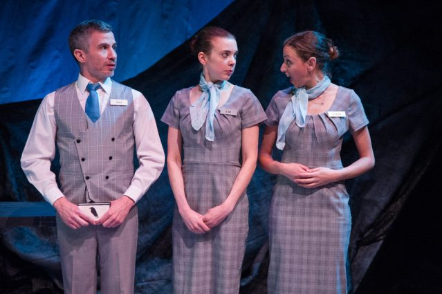 Carlos Saldana (Leo), Jenna Rossman (Lil) and Dina Soltan (Lydia) provide five-star service in a hotel with some very unusual amenities.