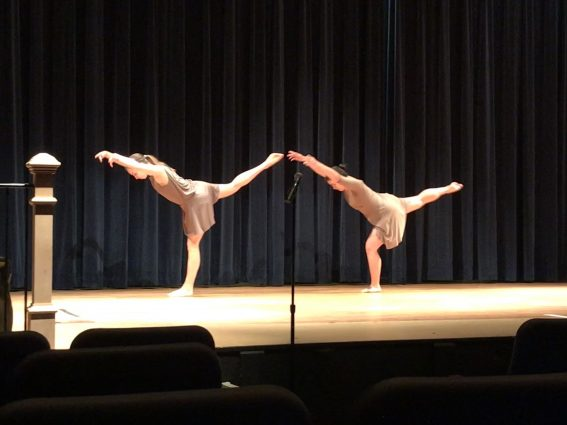 """Dancers perform in the modern percussion piece that is part of """"Ourchestra."""""""