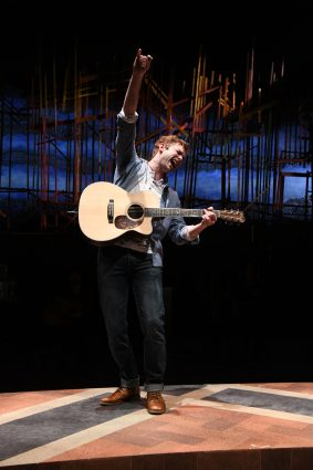 "In Olney's production of the musical ""Once,"" Gregory Maheu plays Guy, the role originated by Irish musician Glenn Hansard in the 2006 film."