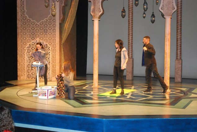 From left, Laura Artesi, Joanne Lamparter, Emily Veno and B. Marcel Smith created Imagination Stage's 2018 Play In A Day.