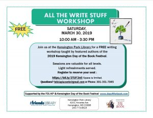 All the Write Stuff: A Workshop by the 2019 Day of the Book Festvl's Authors