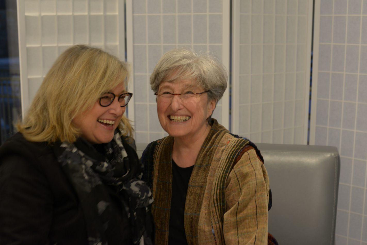 Debbie Snyder with her mother, Elaine Troffkin Snyder.