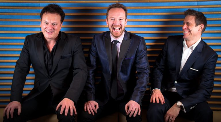 A sense of humor and camaraderie are essential to the three men of Tenors Unlimited, from left, Jem Sharples, Paul Martin and Scott Ciscon.