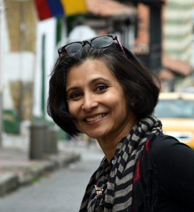 When she's not in her studio, artist, art historian and educator Vidya Vijayasekharan teaches art history at Montgomery College.