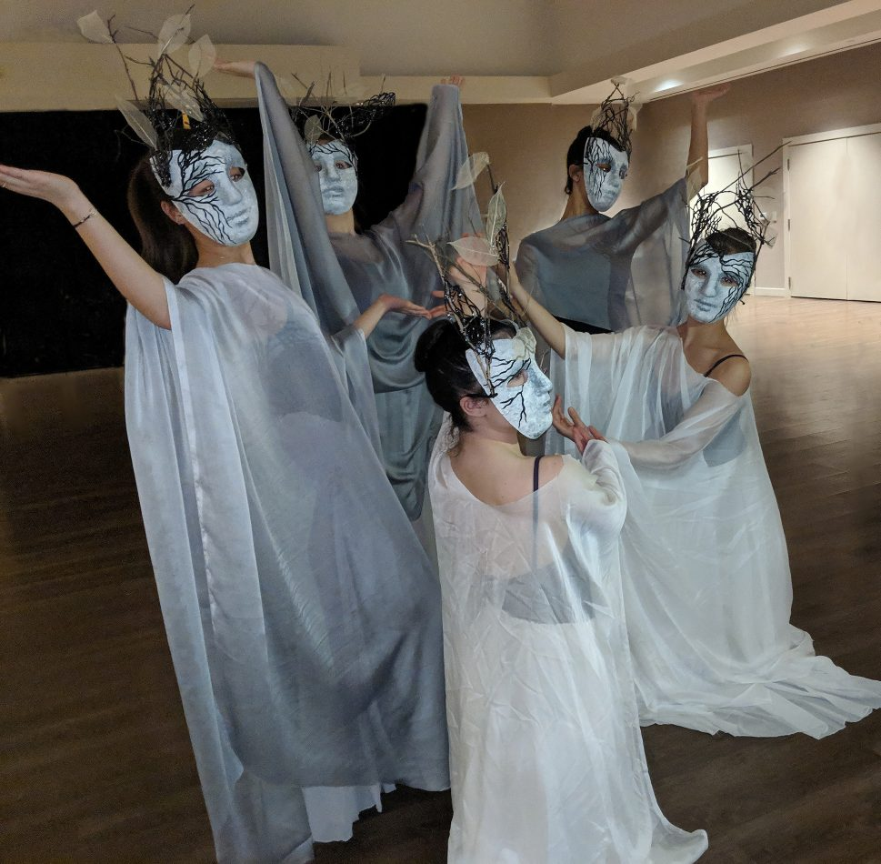 Olney Ballet Theatre dancers portray the Furies.