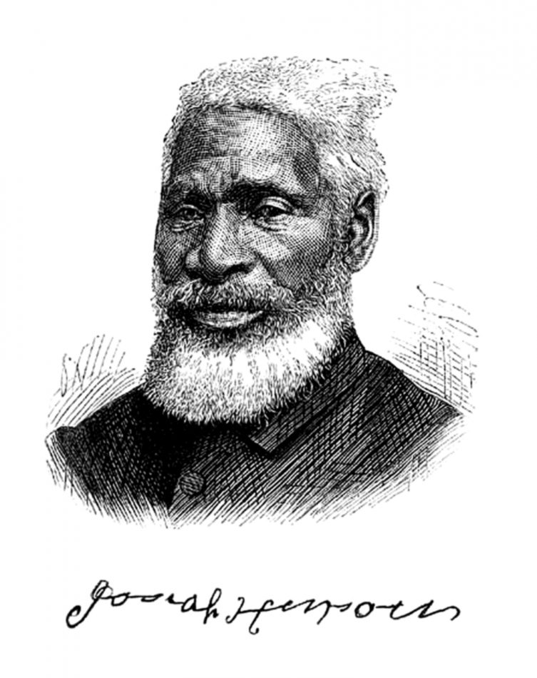 """Portrait of Josiah Henson from his autobiography, """"Truth Is Stranger Than Fiction"""" (1879)."""