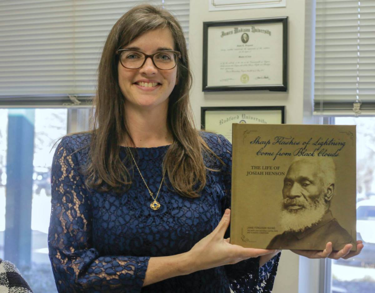 """Montgomery Parks Senior Historian Jamie F. Kuhns wrote the new book, """"Sharp Flashes of Lightning Come from Black Clouds: The Life of Josiah Henson."""""""
