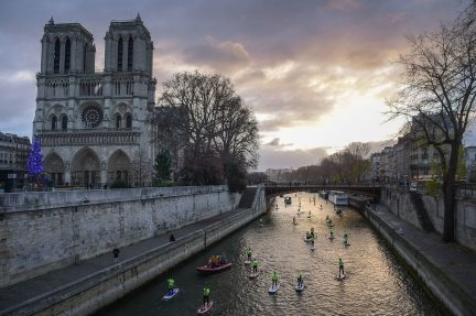 A December 2018 photo of Notre Dame, which inspired Matisse throughout his time living in Paris.