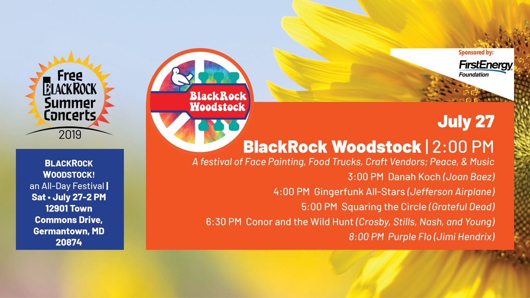 BlackRock celebrates the 50th Anniversary of Woodstock with an all-afternoon festival.