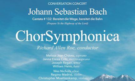 "ChorSymphonica's ""Conversation Concert"" will be June 30 at the St. Jane de Chantal Catholic Church"