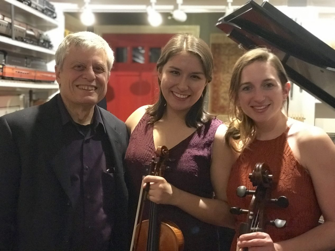 The Milo Trio: Celaya Kirchner, violin; Emma Hays Johnson, cello; Carl Banner, piano.