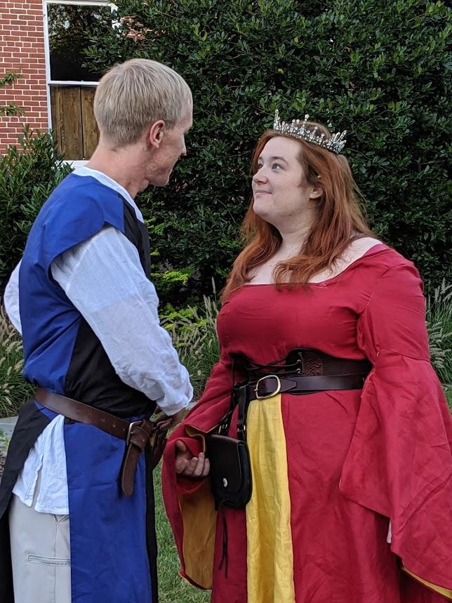 Lance & Gwen, aka Lancelot & Guinevere: Erin Kelman and Elizabeth Weiss.