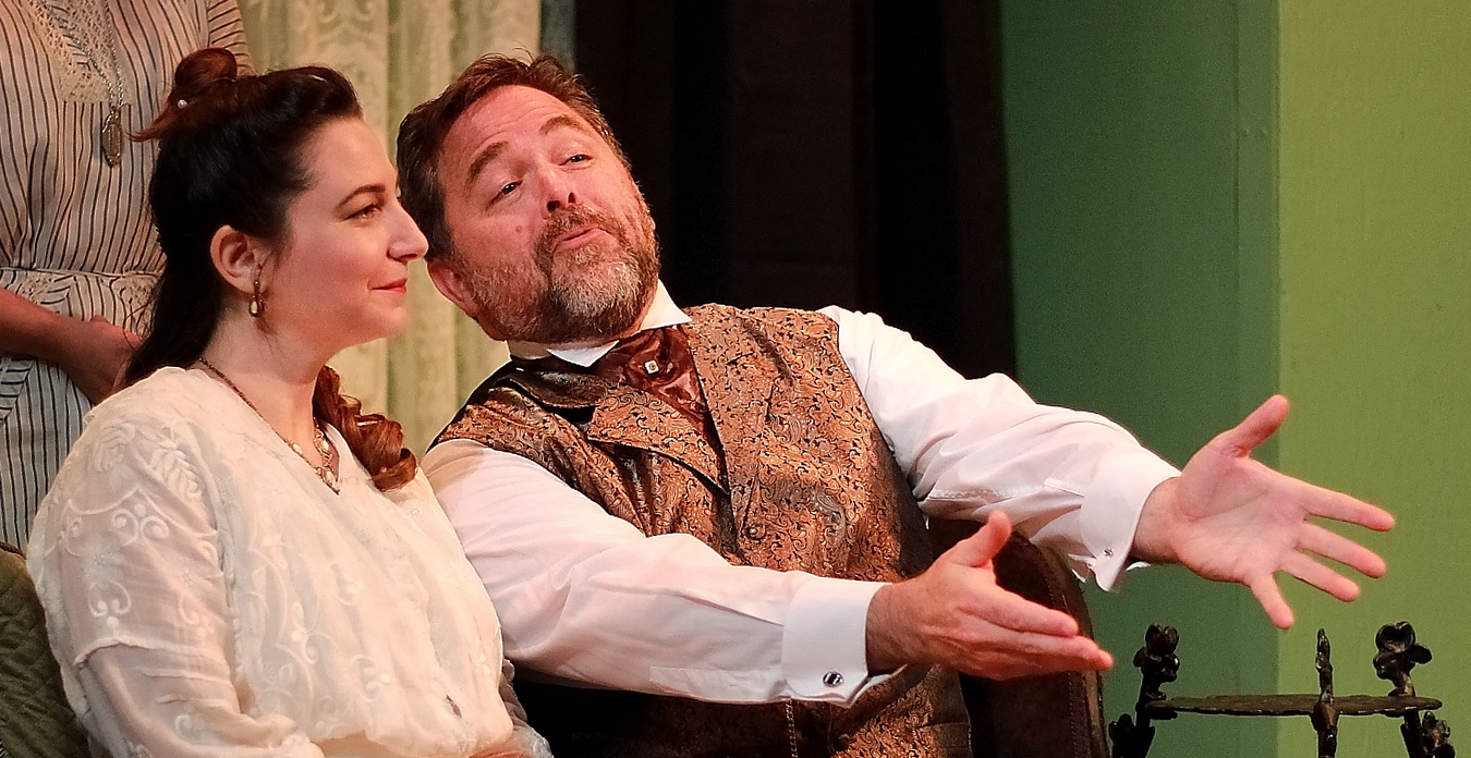 "Sibling revelry: Dulcie Baxter (Marnie Konarek) and Tom Kemp (Brendan Murray) are the sister and brother at the center of ""The Mollusc,"" a comedy of ill manners."