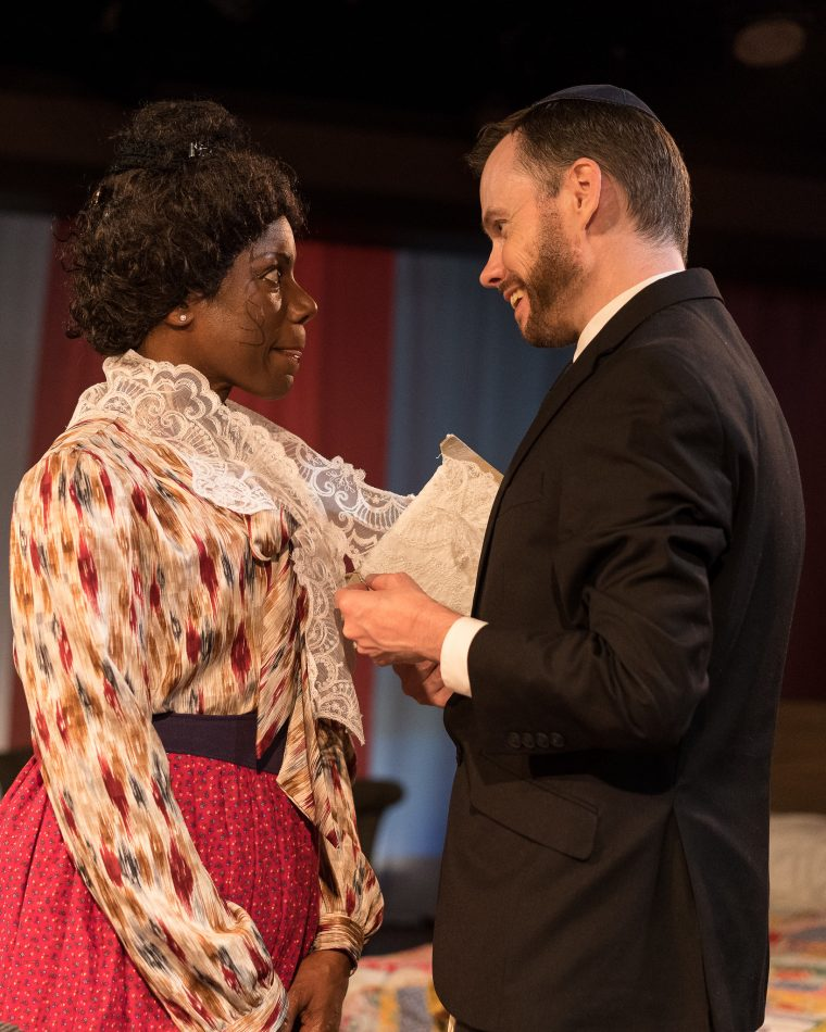 Mr. Marks ( David Dieudonne) and Esther (Christine M. Champion)