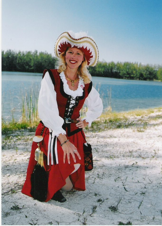 Mary Ann Jung as pirate queen Grace O'Malley.