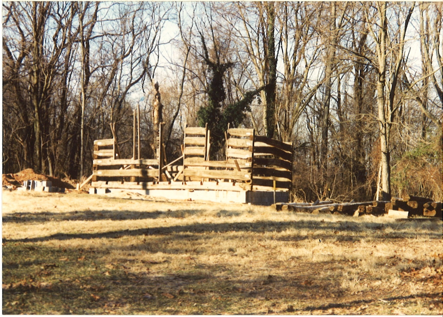 The Maryland Park Service trucked the Grusendorf Log Cabin two miles down the road from its original location to Seneca Creek State Park, then reassembled it.