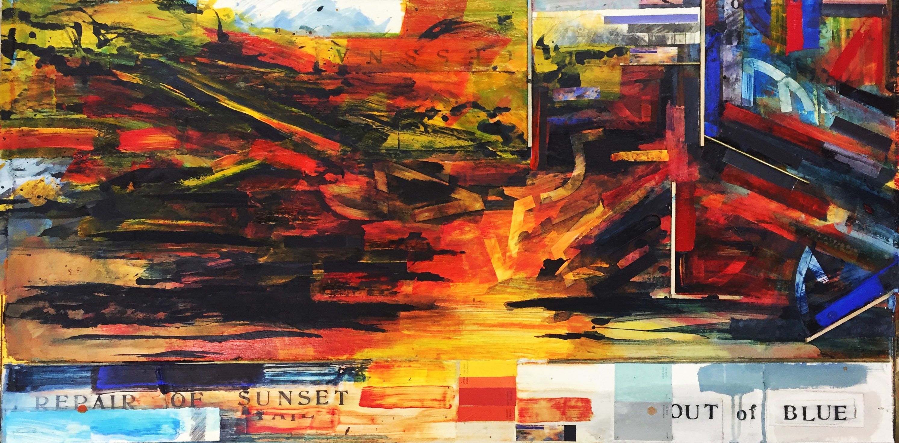 """Repair of Sunset,"" Frank Cole, mixed media"
