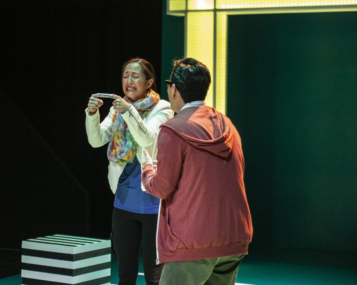 "Regina Aquino as Jennifer and Sean Sekino as Albert in ""Tiger Style!"""