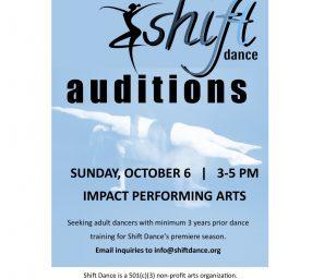 Shift Dance Auditions