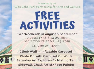 FREE Activities for Families at Glen Echo Park