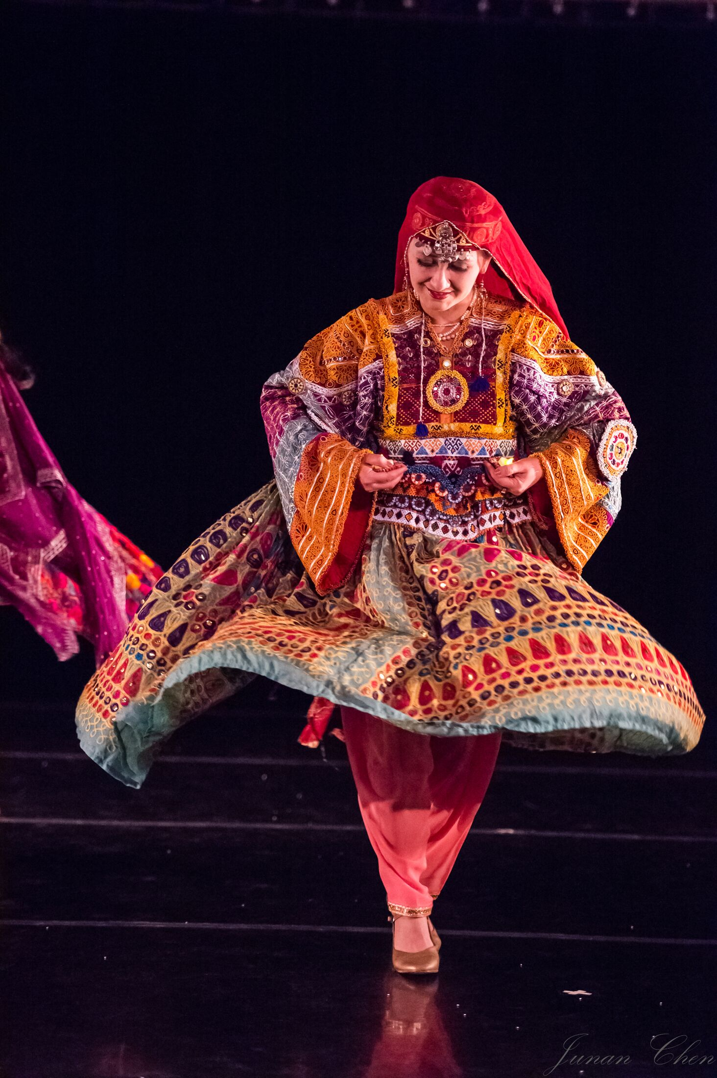 The Silk Rose Dance Company performed an Afghan dance at a Heart of Asia concert.