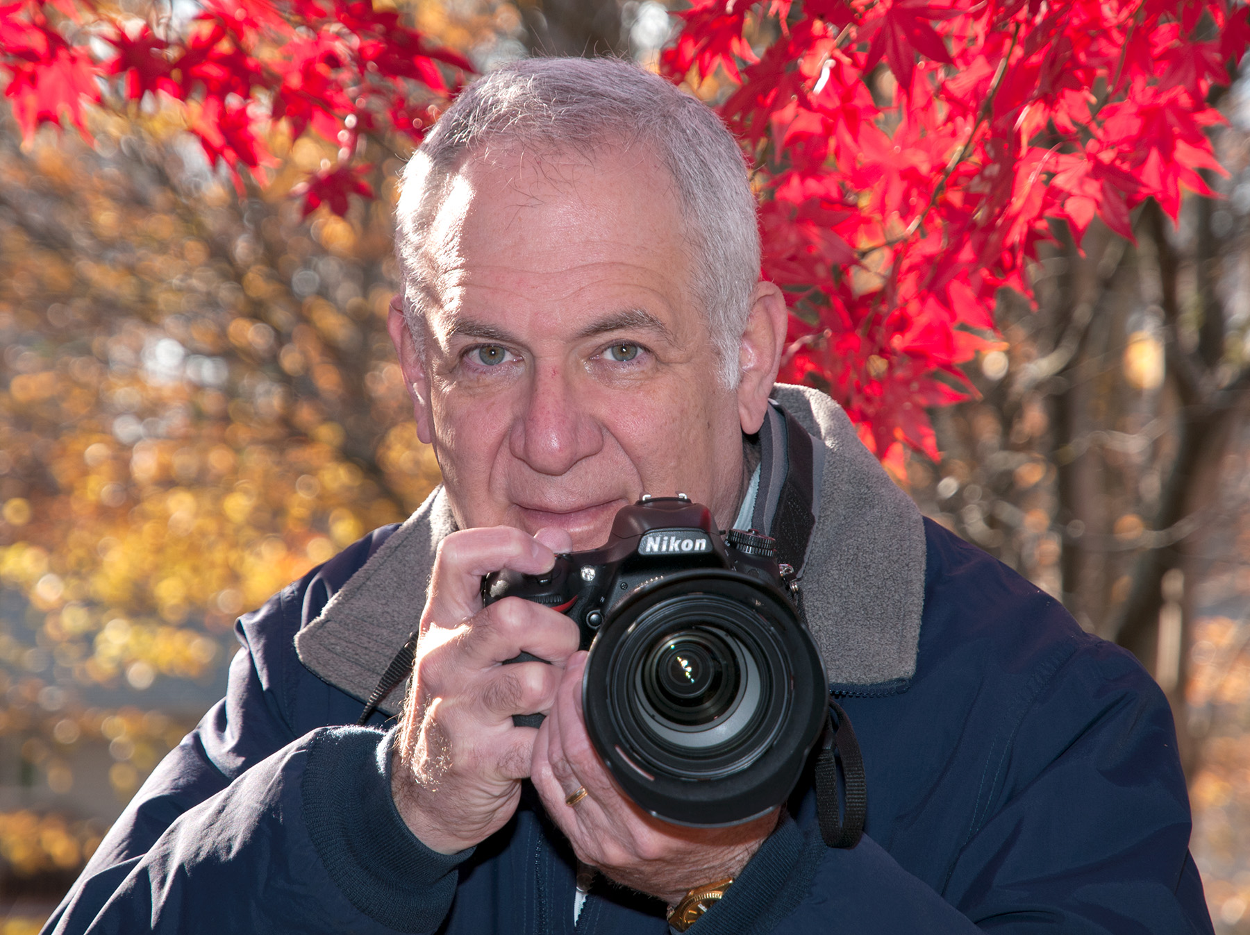 A portrait of the artist, photographer Larry Levine, whose CreativitY exhibit is at Sandy Spring Museum through Nov. 24.