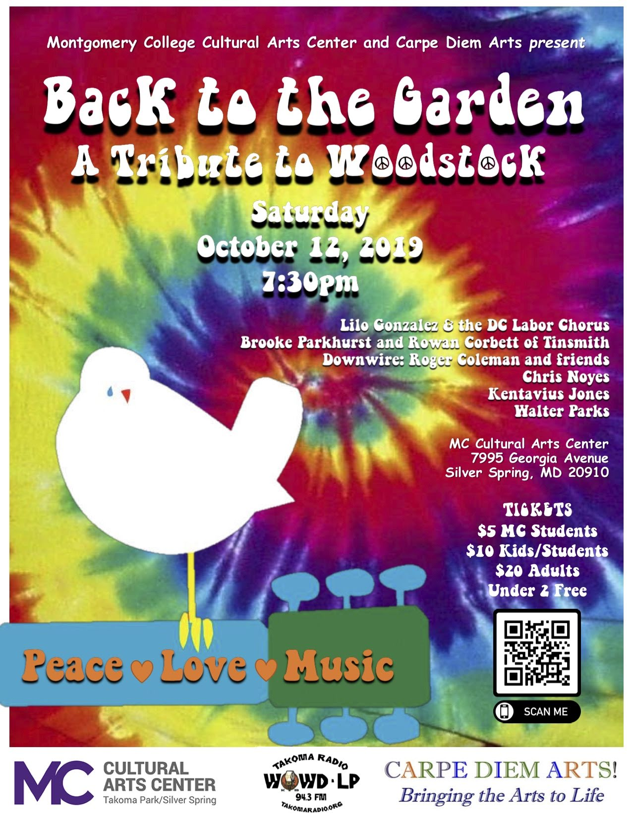 Back to the Garden: local musicians will be recreating the peace love and music of Woodstock in Silver Spring, 50 years after the original concert.
