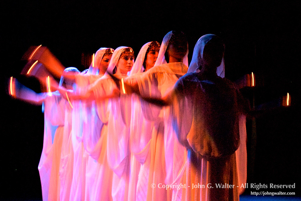 A Zoroastrian dance by members of the Silk Road Dance Company.