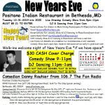 New Years Eve at Positano Italian Restaurant in Be...