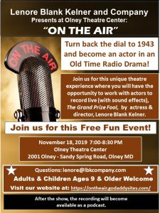 "Free ""On The Air"" radio drama performance"