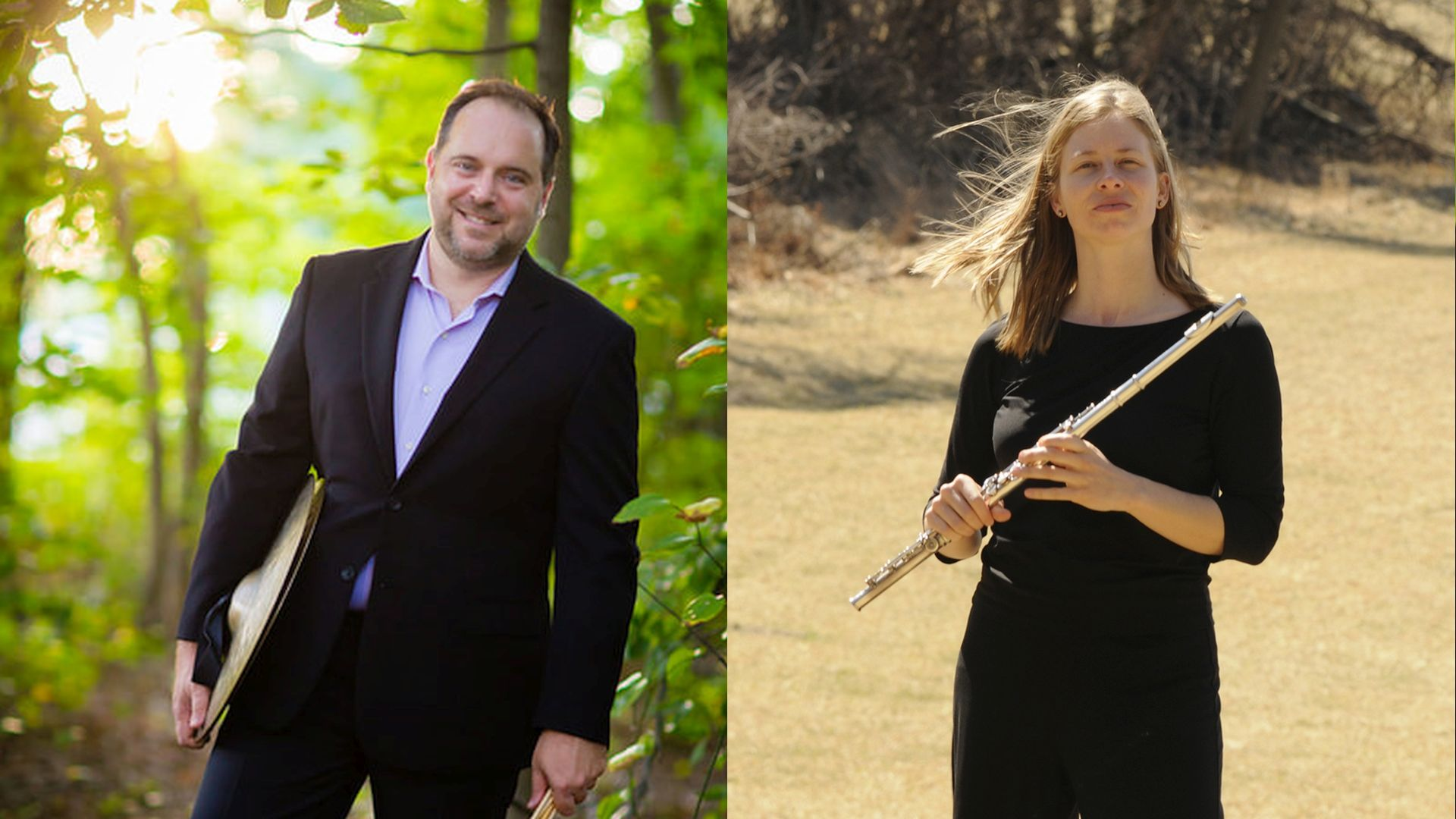 "Percussionist John Kilkenny and flutist Carrie Rose will perform ""Nature Sounds"" at the Nov. 16 Origins Series concert."