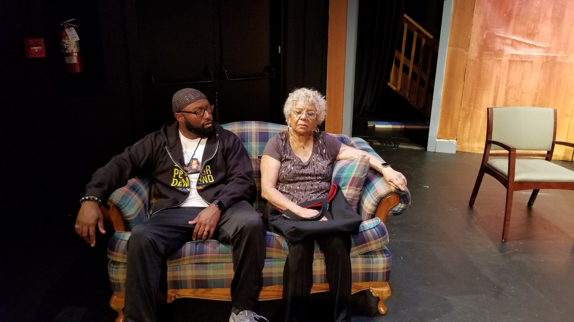 "Emmanuel Kerry and Carolyn Chissel in Heralds of Hope's ""Fire in My Eyes."""