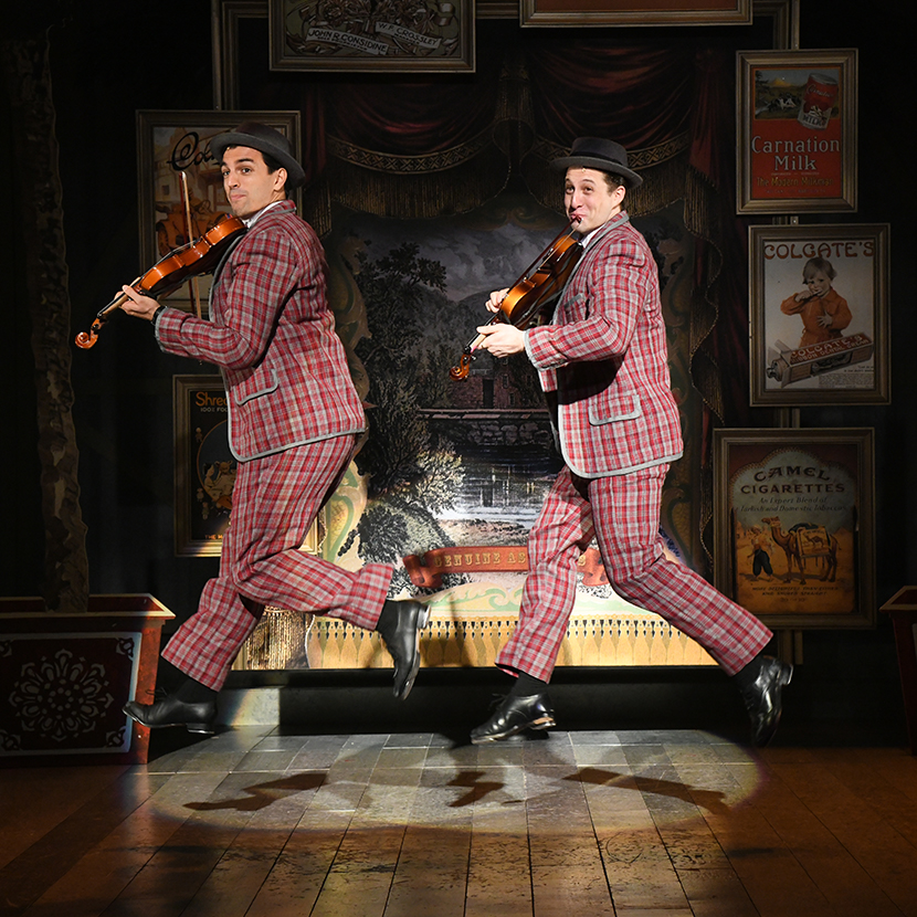 Fit as a fiddle: Jacob Scott Tischler and Rhett Guter on the vaudeville circuit, making 'em laugh.