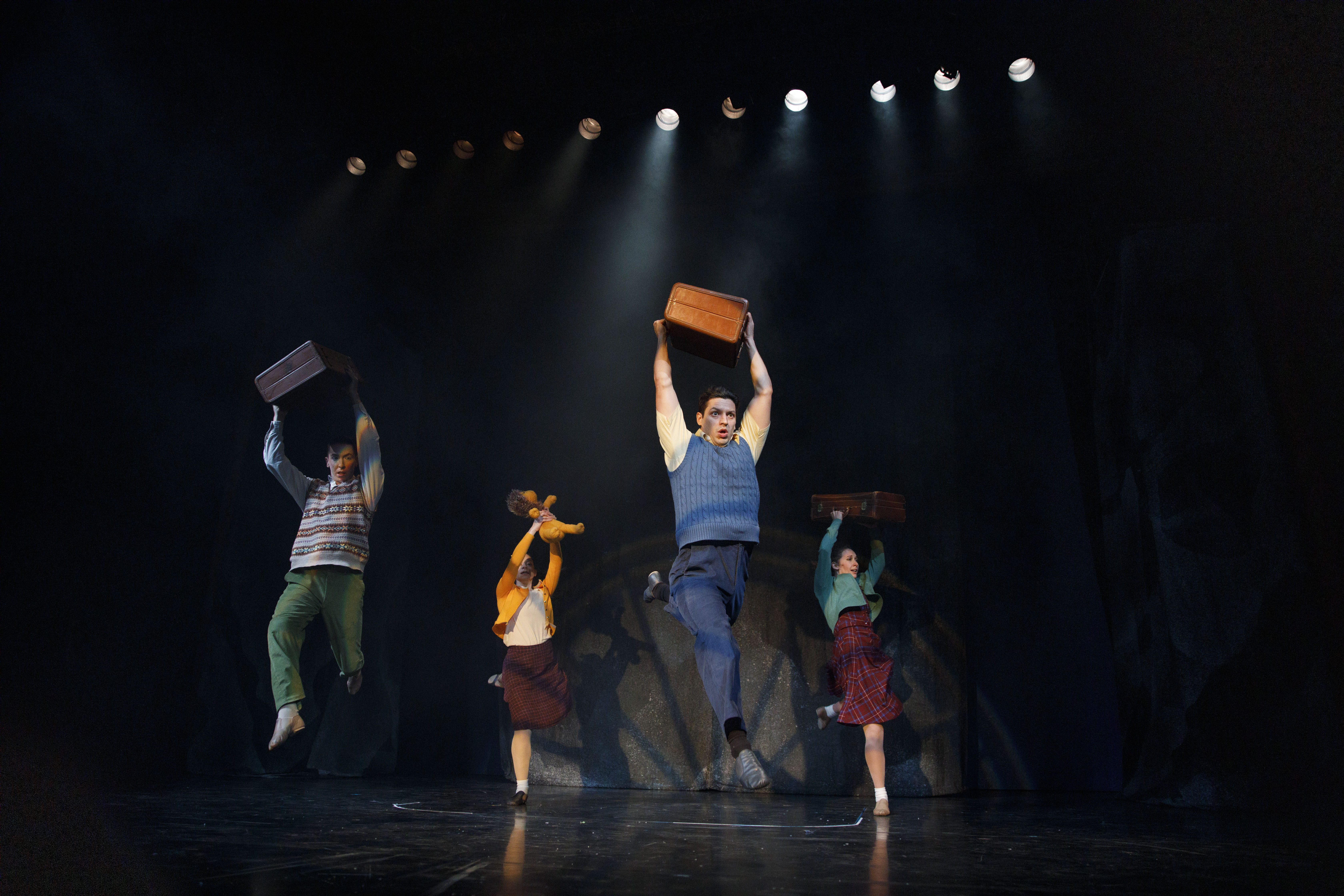 From left, Randy Snight as Peter Pevensie (dancer), Lexi Firestone as Lucy Pevensie (dancer), Ryan Sellers as Edmund Pevensie (dancer) and Sarah Laughland as Susan Pevensie (dancer).