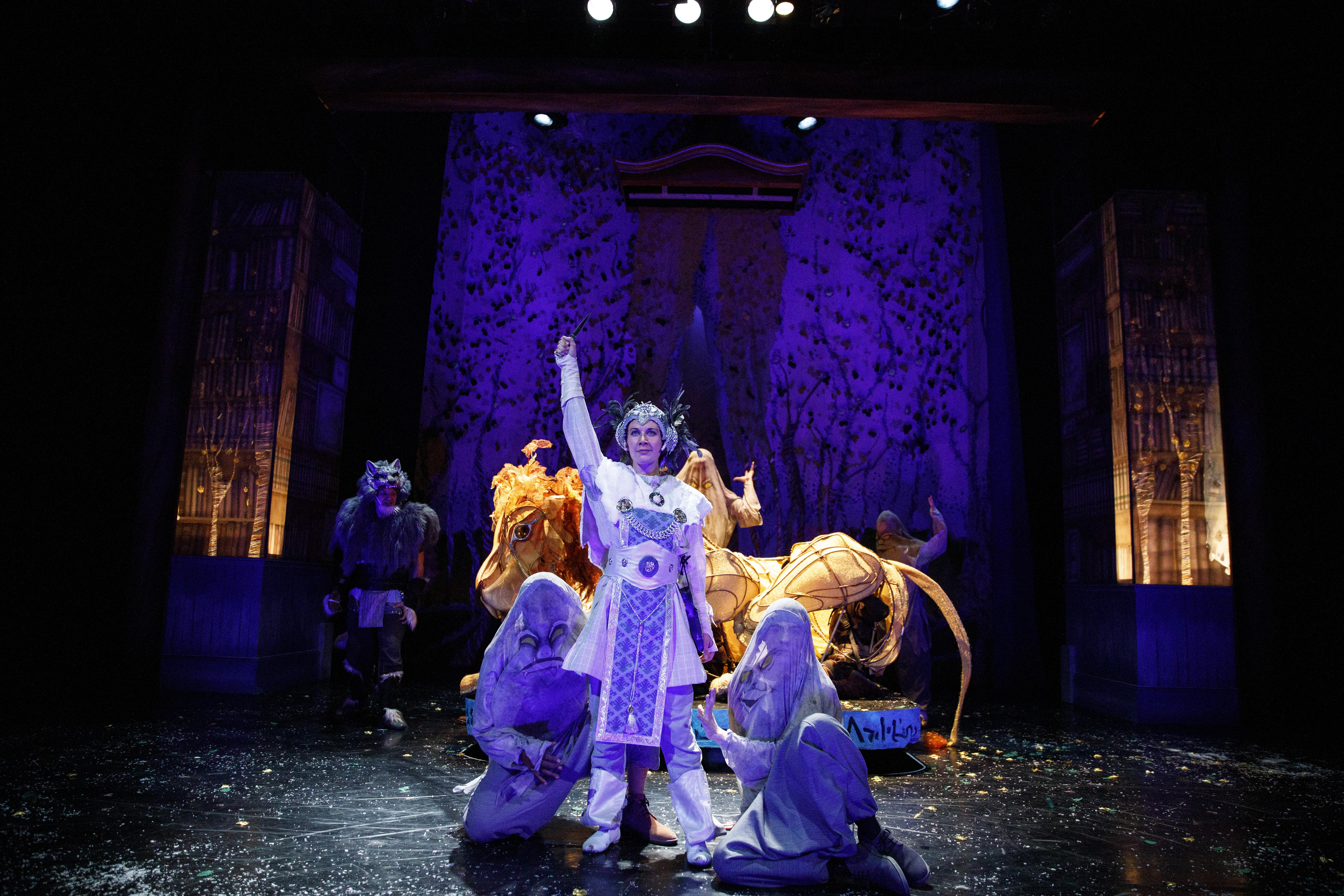 Sarah Laughland as The White Witch.